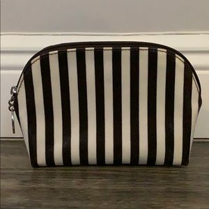 NEW Henri Bendel Small Canvas Cosmetic Case